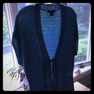 Beautiful August Silk blue/teal sweater Medium